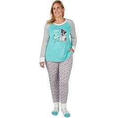 Plus Size Cuddl Duds Dreamer 3-piece Graphic Top & Joggers Pajama Set