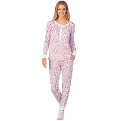 Women's Cuddl Duds Enchanted Henley Tee, Jogger & Socks Pajama Set