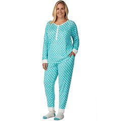 Plus Size Cuddl Duds Enchanted Henley Tee, Jogger & Socks Pajama Set