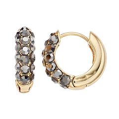 Simply Vera Vera Wang Two Tone Hoop Earrings