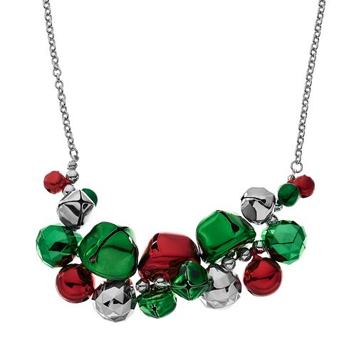 Jingle Bell Cluster Necklace