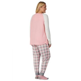 Plus Size Cuddl Duds Enchanted Graphic Tee, Joggers & Socks Pajama Set