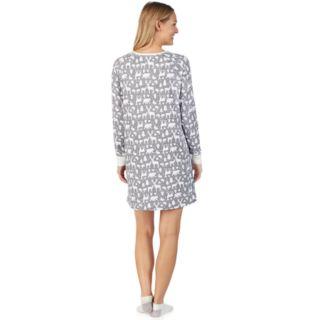 Women's Cuddl Duds Enchanted Henley Sleepshirt & Socks Set