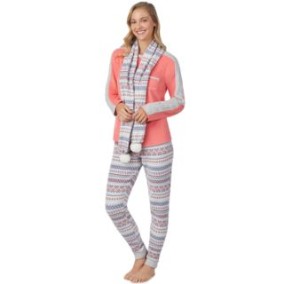 Women's Cuddl Duds Wonderland 3-piece Microfleece Pajama Set