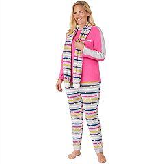 Plus Size Cuddl Duds Wonderland 3-piece Microfleece Pajama Set
