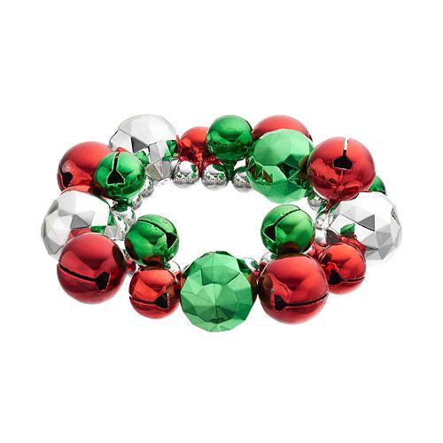 Jingle Bell Cluster Stretch Bracelet
