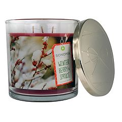 Sonoma Goods For Life Winter Berry Spruce 14 Oz Candle Jar