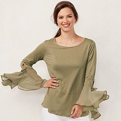 Women's LC Lauren Conrad Flare Sleeve Chiffon Top