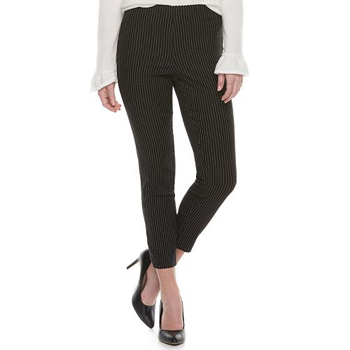 Womens Elle Pull On Ankle Dress Pants