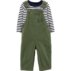 Baby Boy Carter's Striped Tee & Twill Overalls Set