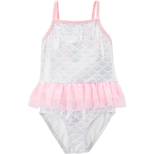 6f711f32f5 Baby Girl Carter's Foiled Mermaid Tutu One-Piece Swimsuit