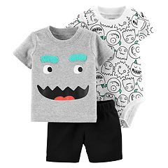Baby Boy Carter's Monster Tee, Bodysuit & Solid Shorts Set