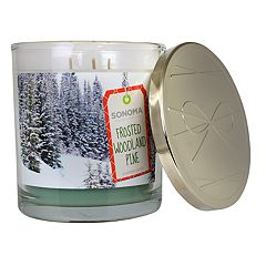 SONOMA Goods for Life™ Frosted Woodland Pine 14-oz. Candle Jar