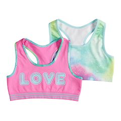 f6e15da4e5 Girls 7-16 Mush 2-pack  Love  Seamless Racerback Sports Bras
