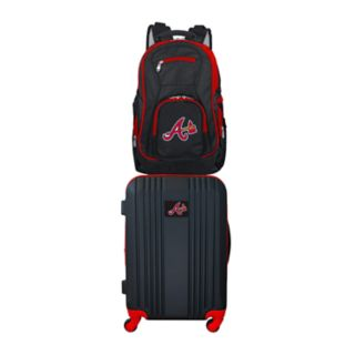 Atlanta Braves Wheeled Carry-On Luggage & Backpack Set