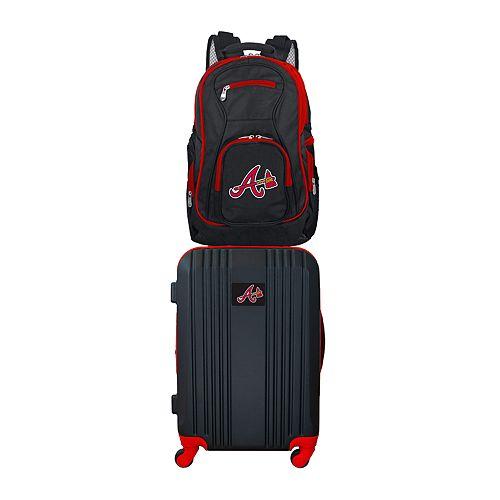 Atlanta Braves Wheeled Carry-On Luggage & Backpack Set