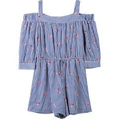 Girls 7-16 Speechless Off Shoulder Romper