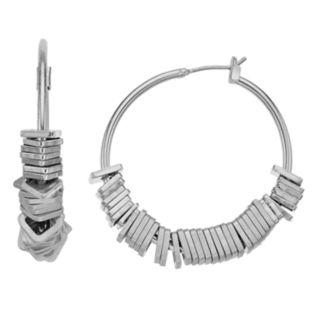 Simply Vera Vera Wang Silver Tone Hoop Earrings