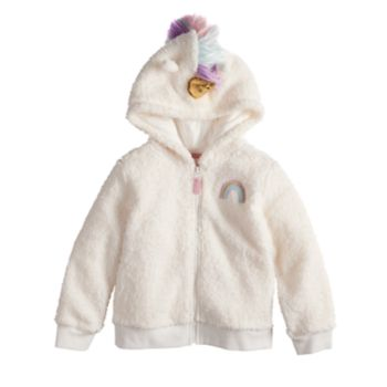 Toddler Girl Jumping Beans® Unicorn Fleece Zip Hoodie