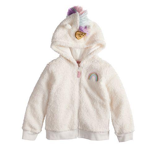 Toddler Girl Jumping Beans® Unicorn Fleece Zip Hoodie