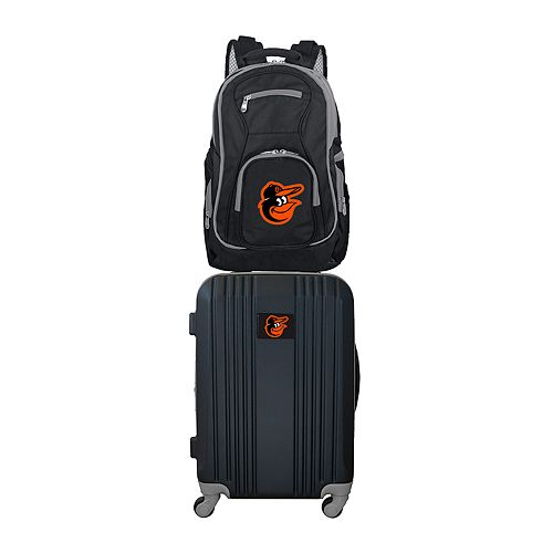 Baltimore Orioles Wheeled Carry-On Luggage & Backpack Set