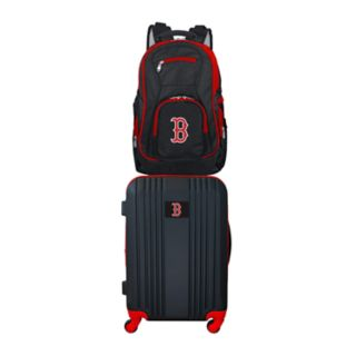 Boston Red Sox Wheeled Carry-On Luggage & Backpack Set