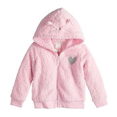 Toddler Girl Jumping Beans® Sherpa Kitty Cat Hoodie