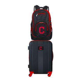 Cleveland Indians Wheeled Carry-On Luggage & Backpack Set