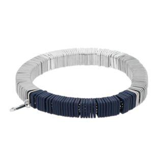 Simply Vera Vera Wang Silver Tone & Blue Stretch Bracelet