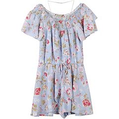 Girls 7-16 Speechless Skirted Romper with Necklace