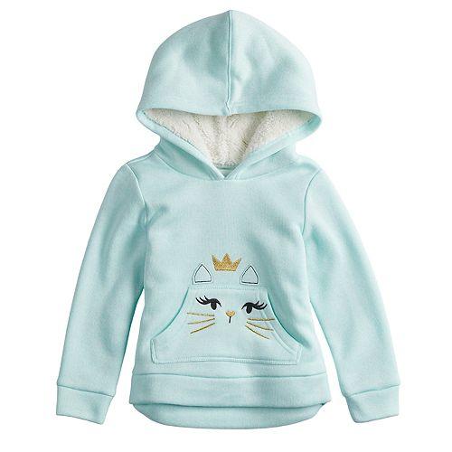 Toddler Girl Jumping Beans® Plush Fleece Hoodie