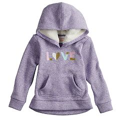 Toddler Girl Jumping Beans® Plush Fleece Hoodie