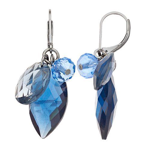 Simply Vera Vera Blue Cluster Drop Earrings