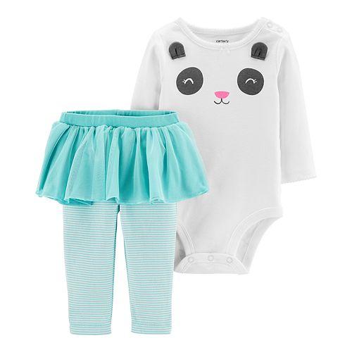 Baby Girl Carter's Panda Bodysuit & Tutu Leggings Set