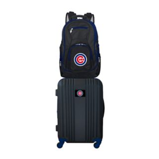 Chicago Cubs Wheeled Carry-On Luggage & Backpack Set