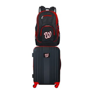 Washington Nationals Wheeled Carry-On Luggage & Backpack Set