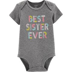 Baby Girl Carter's 'Best Sister Ever' Graphic Bodysuit