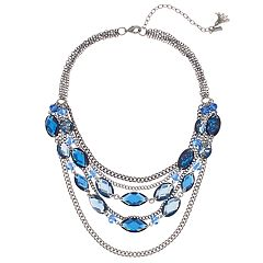 Simply Vera Vera Wang Blue Multi Strand Statement Necklace