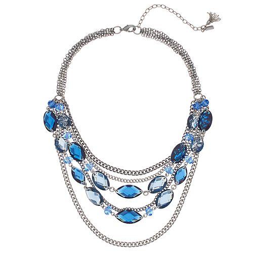 Simply Vera Vera Wang Blue Multi Strand Statement Necklace