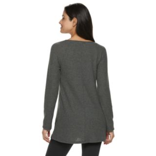 Women's SONOMA Goods for Life? Supersoft Waffle V-Neck Tunic