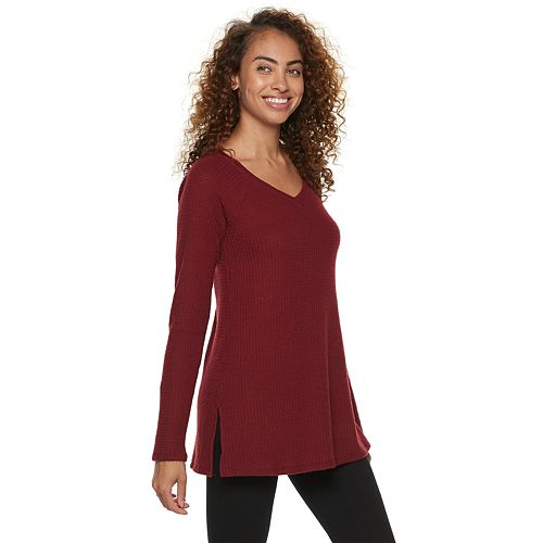 Women's SONOMA Goods for Life™ Supersoft Waffle V-Neck Tunic