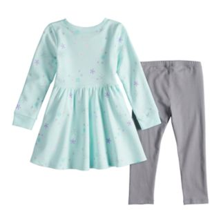 Toddler Girl Jumping Beans® Snowflake Dress & Leggings Set