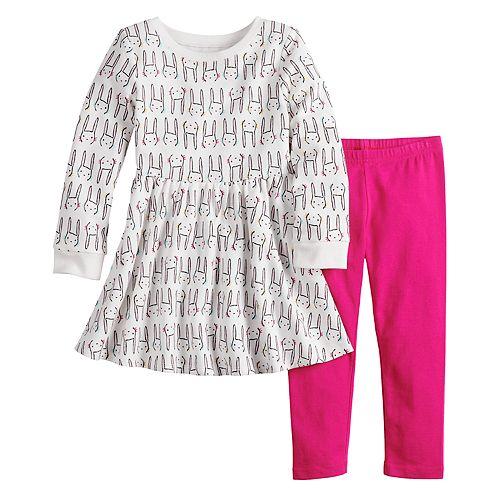 Toddler Girl Jumping Beans® Snowflake Dress & Leggings Set