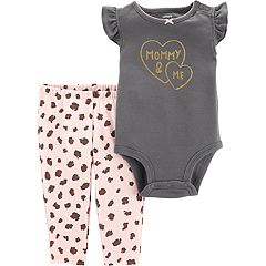 Baby Girl Carter's 'Mommy & Me' Bodysuit & Cheetah Leggings Set