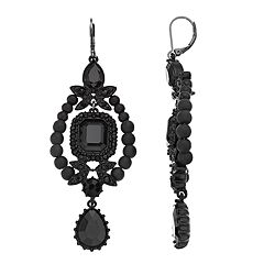 Simply Vera Vera Wang Black Statement Drop Earrings