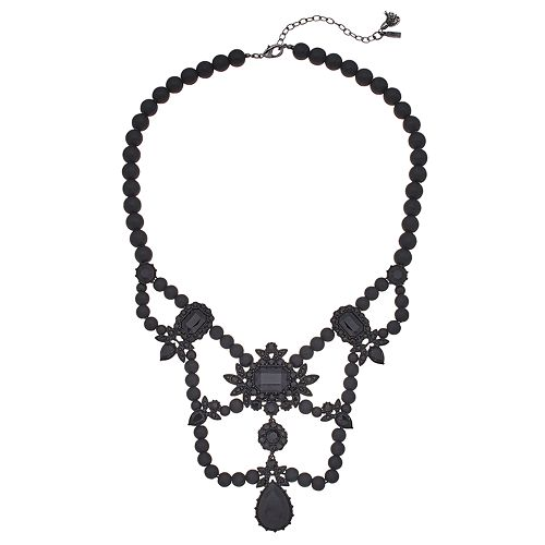 Simply Vera Vera Wang Black Statement Necklace