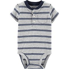 Baby Boy Carter's Striped Henley Bodysuit