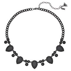 Simply Vera Vera Wang Black Teardrop Link Necklace