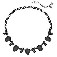 Simply Vera Vera Wang Black Teardrop Link Necklace