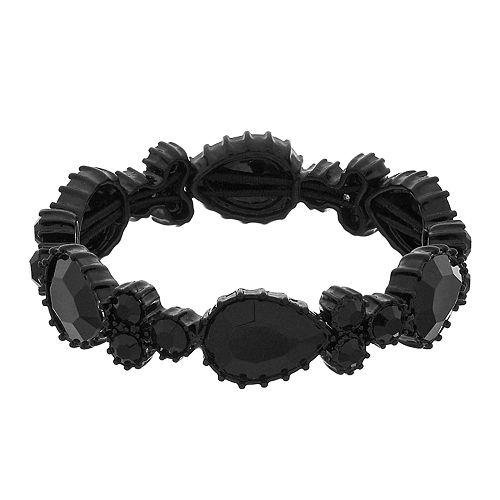 Simply Vera Vera Wang Black Simulated Crystal Stretch Bracelet
